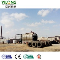 pyrolysis waste tyre to crude oil machine with free installation