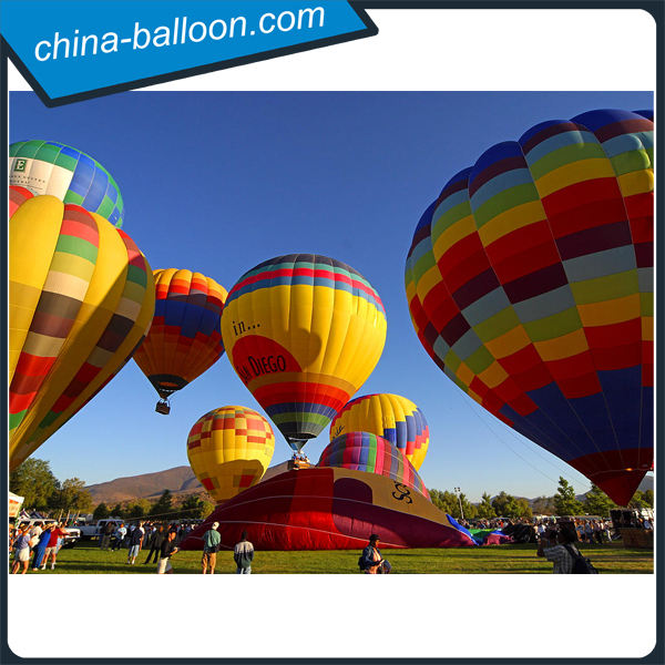 Top selling inflatable fabric hot air balloon colorful cheap inflatable hot air balloon for sale