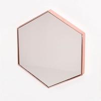 Durable Hexagonal Shape Metal Frame Mirror Set