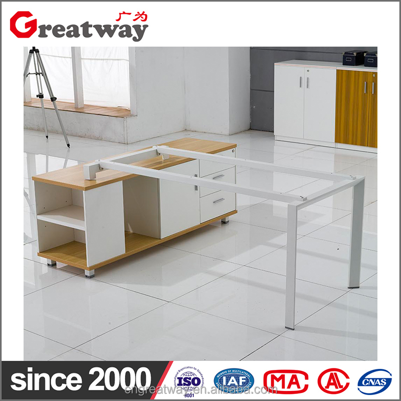 Newest model cheapest price green material manager desk with pedestal for cubicle room(HA1-A)