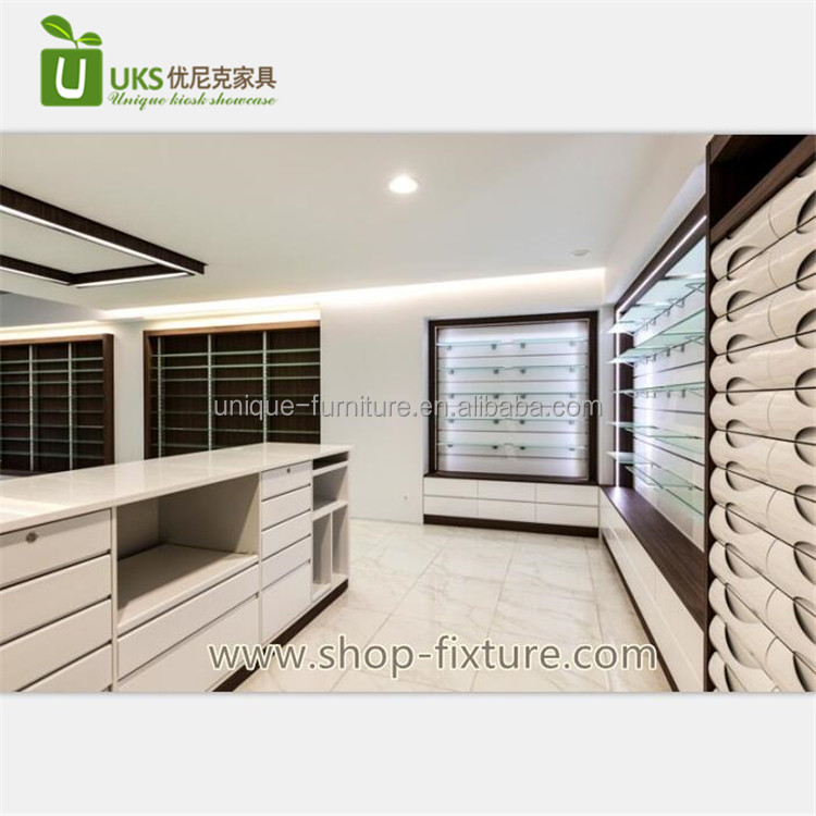 Online Medical Store Counter Furniture With Retail Pharmacy Shop Interior Design For Sale