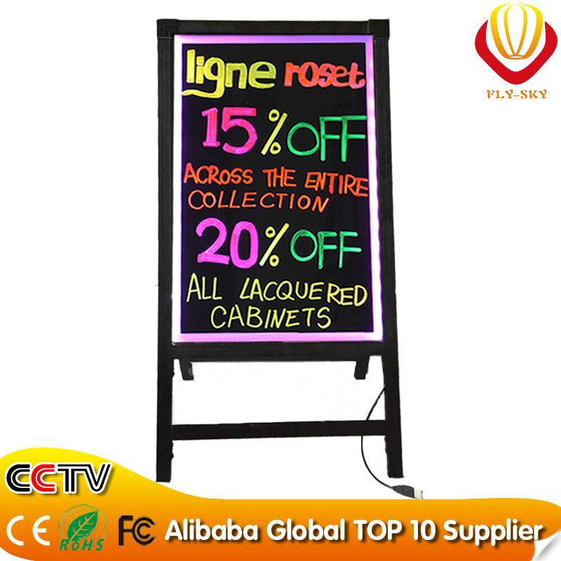 high quality FLY SKY led screen A stand LED writing board new item factory outlet hotselling