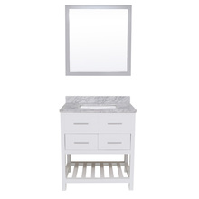American style bathroom funiture white hindware solidwood bathroom cabinet with mirrior