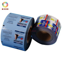 Laminated food packaging plastic roll film/aluminum foil roll film package