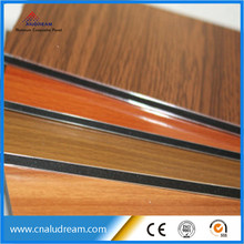 wooden look aluminum composite material decoration <strong>panel</strong>