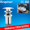 New Bathroom Chrome Brass sink plugs uk slotted basin click clack waste