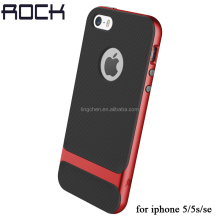 ROCK Original Luxury Slim Armor Back Cover Phone Case For iPhone 5S 5 SE Hard PC+Soft TPU Shell for iphone 5S