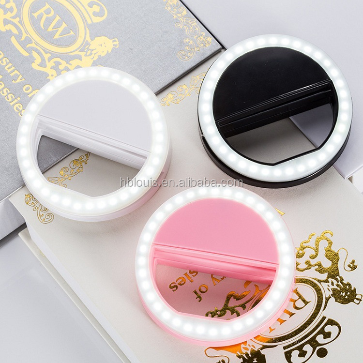 3 levels 36 LED Portable Clip On LED Camera Mobile <strong>Phone</strong> Selfie Ring Light
