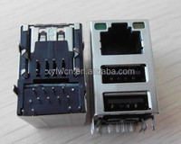fast delivery 2 usb+rj45 jack / 8 pin rj45 connector female