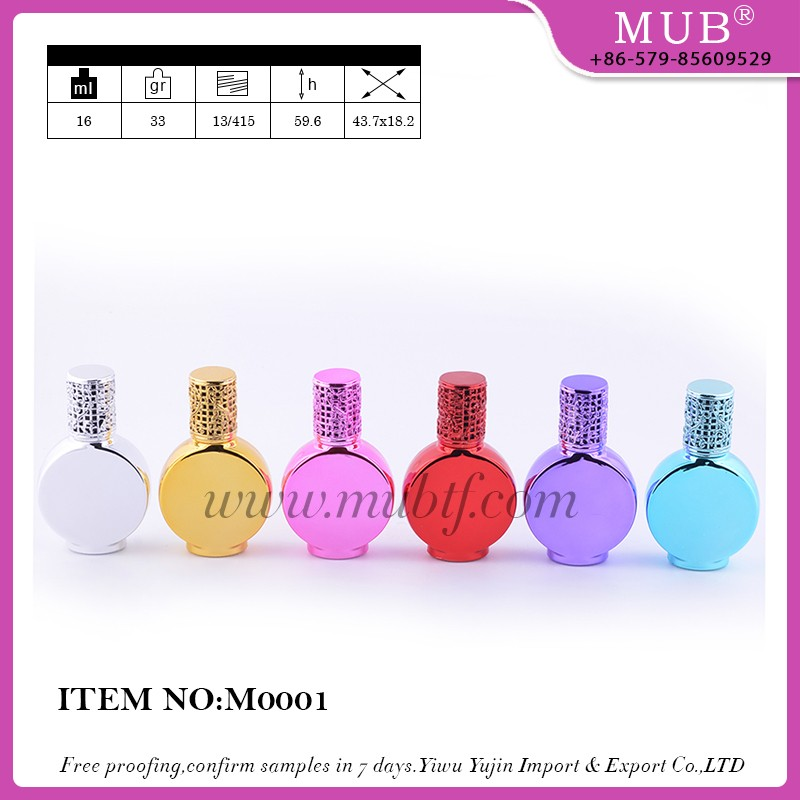 M0019 roll bottles glass bottle aluminum perfume bottle wholesale