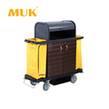 MUK hotel restaurant supplies luxury housekeeping cart with ergonomically handles
