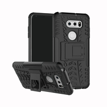 Anti-skid rugged 2 in 1 armour case for LG V30 stand cover protective