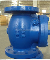 China supplier flange ends cast iron swing check valve/h44h-16/16q