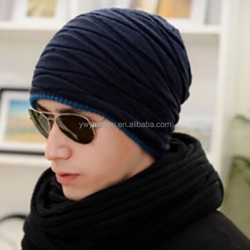 High quality knitted cap fashion wool hat set head hat warm men and women outdoor cap autumn and winter ski hat.