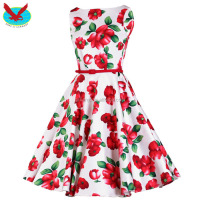 OEM Custom Rockabilly Pinup Retro Vintage Dress 50S Swing Dress Floral Print Dress