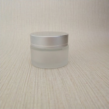 China Factory 20g frost cream glass jar glass container with silver screw cap Y33