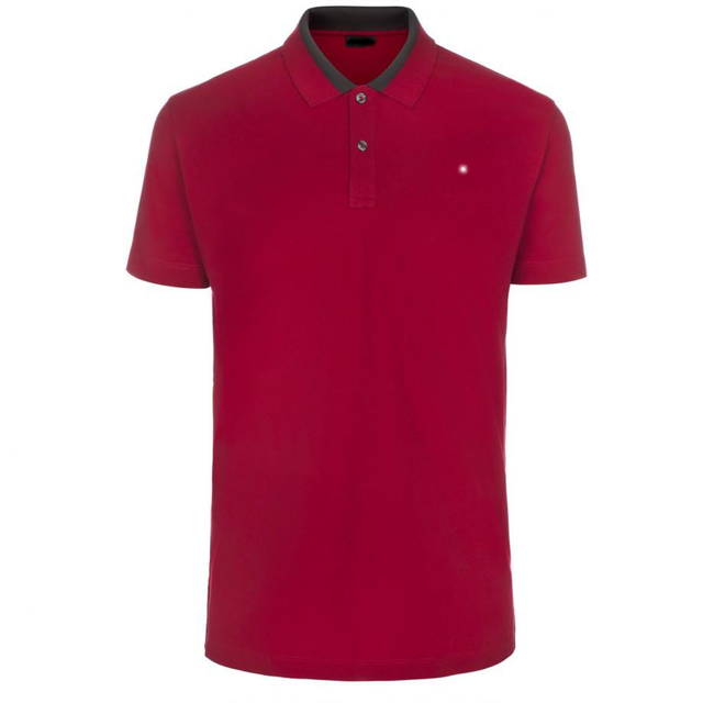 Men's Slim-Fit Red PS Logo Polo Shirt