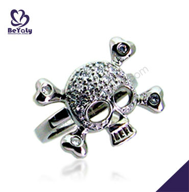 New fashion silver skeleton ring for boys and girls