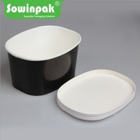 Large square paper ice cream tub youhurt packaging container