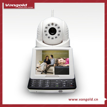 Wifi IP camera with screen support P2P, Talkback, 2CU software by mobile phone