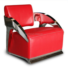 High quality red leather modern sofas