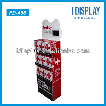 single sided lcd advertising display stand for phamarcy cardboard display with lcd screen