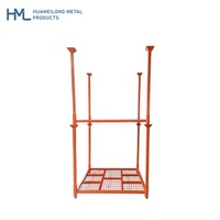 "High quality heavy duty warehouse 60"" stacking collapsible welded steel metal storage tyre racking"