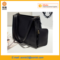 2016 hot sell cheap Generic Fashion PU leather handbags ladies women shoulder bag