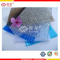 colorful embossed solid polycarbonate sheet/embossed pc sheet/compact polycarbonate price