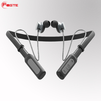 2018 New Arrivals Foste-X12 Neckband Magnetic Bluetooth Headset, Most Popular Wireless Bluetooth Sport Headphone in-ear Earphone