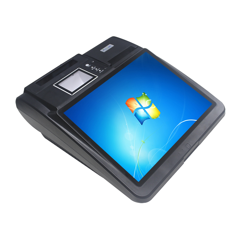 14.1 inch tablet windows pos terminal with printer