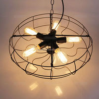 christmas ornaments new product ornament black metal and edison light bulb industrial fan shade led pendant lighting