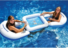2 person inflatable chess table and chair floating island