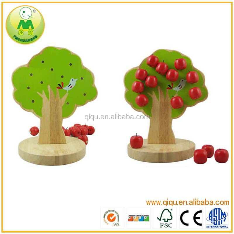 Wooden Magnetic Apple Tree 2014 Hot Educational Toys