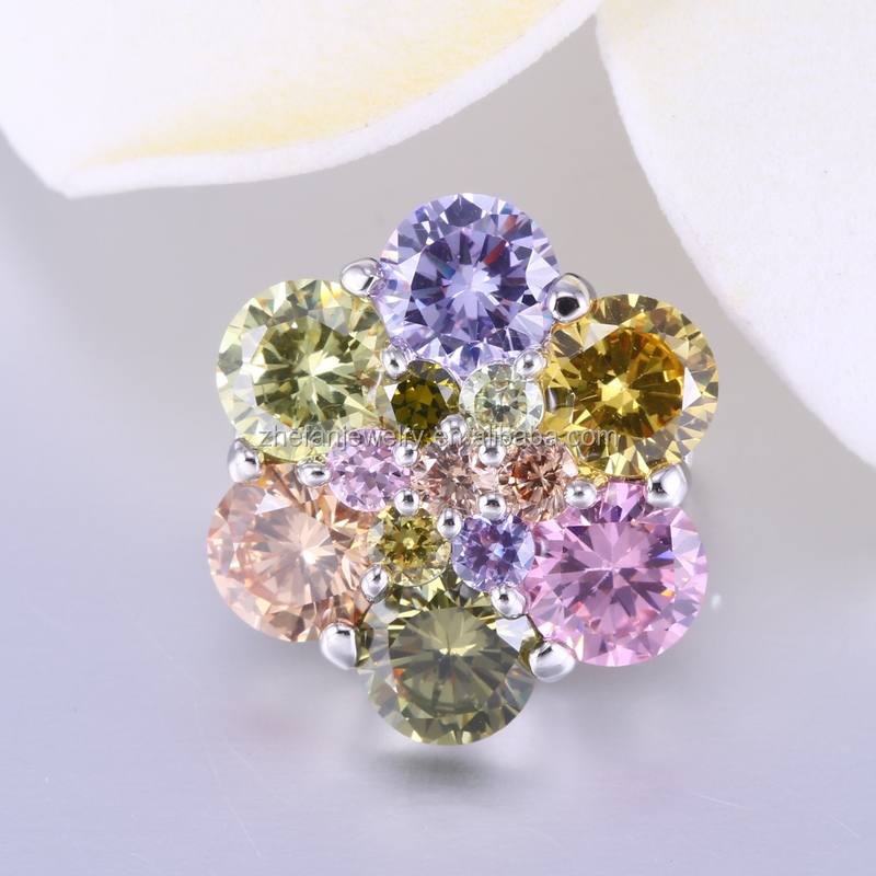 China supplier Newest design men and women cloths flower pin brooch for coats