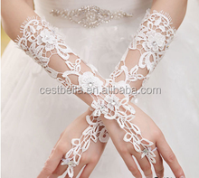 Great Low Price Elegant Rhimestone Elbow Floral Formal Wedding Bridal Glove