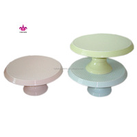 OEM cupcake wedding cake stands ,ceramic cake tray with decal