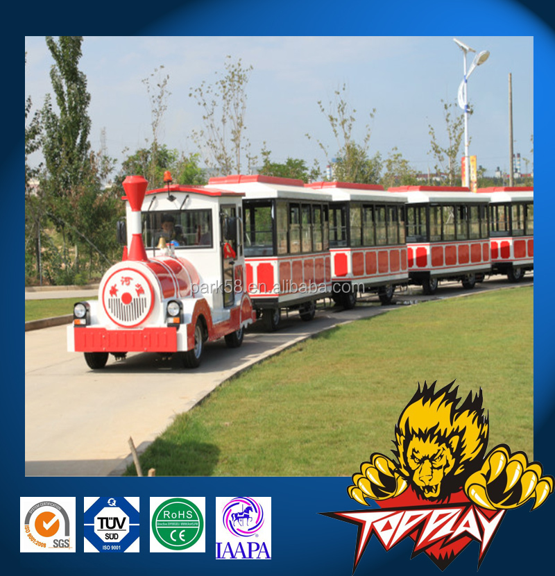 Electric trackless tourist road fun train for sale
