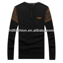 Fashionable pullover jacquard norwegian sweater
