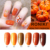 RONIKI wholesale shinny led uv gel nail product pumpkin gel polish