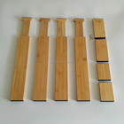 stackable adjustable bamboo wooden drawer divider