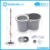 hand press 360 rotating easy mop with assisting device, bigger bucket stronger pole for office & townhouse