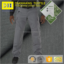 T400 polyester elastic cotton tactical pants dupont Teflon coated treated ripstop fabric