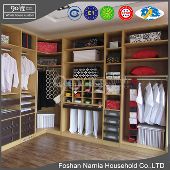 latest ninrty degree used bedroom furniture wooden wardrob for sale