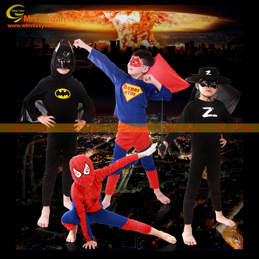 cosplay superman mens and kids halloween costumes bulk China wholesale
