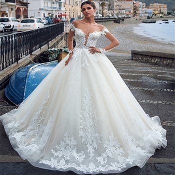Africa Wedding Gowns Long Sleeve Bridal Dresses Ball Gown Bridal Gowns 2019 Cheap Wedding Dresses Plus Size Bridal Gowns A247