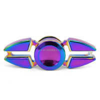 FINGER SPINNER Rainbow Color 2 Sides Fidget Spinner Toy Relieve Stress High Speed Focus Toy for Killing Time (Rainbow)