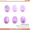 Fashion jewellery natural gems beads round shape kunzite stone cabochon settings