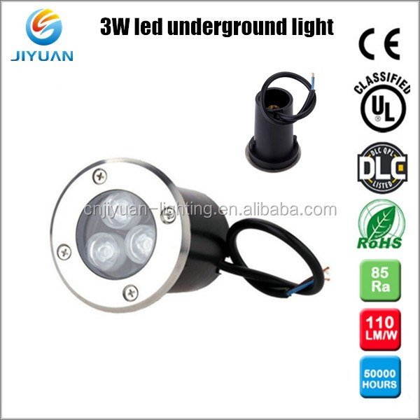 high performance stainless steel underground led light 1W 3W led recessed downlight in concrete