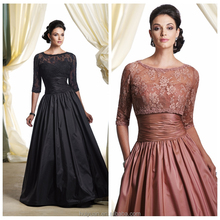 latest design lace two piece formal evening gown dress